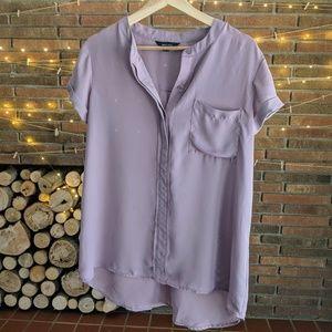 Dusty purple blouse Large simply Vera Vera Wang L